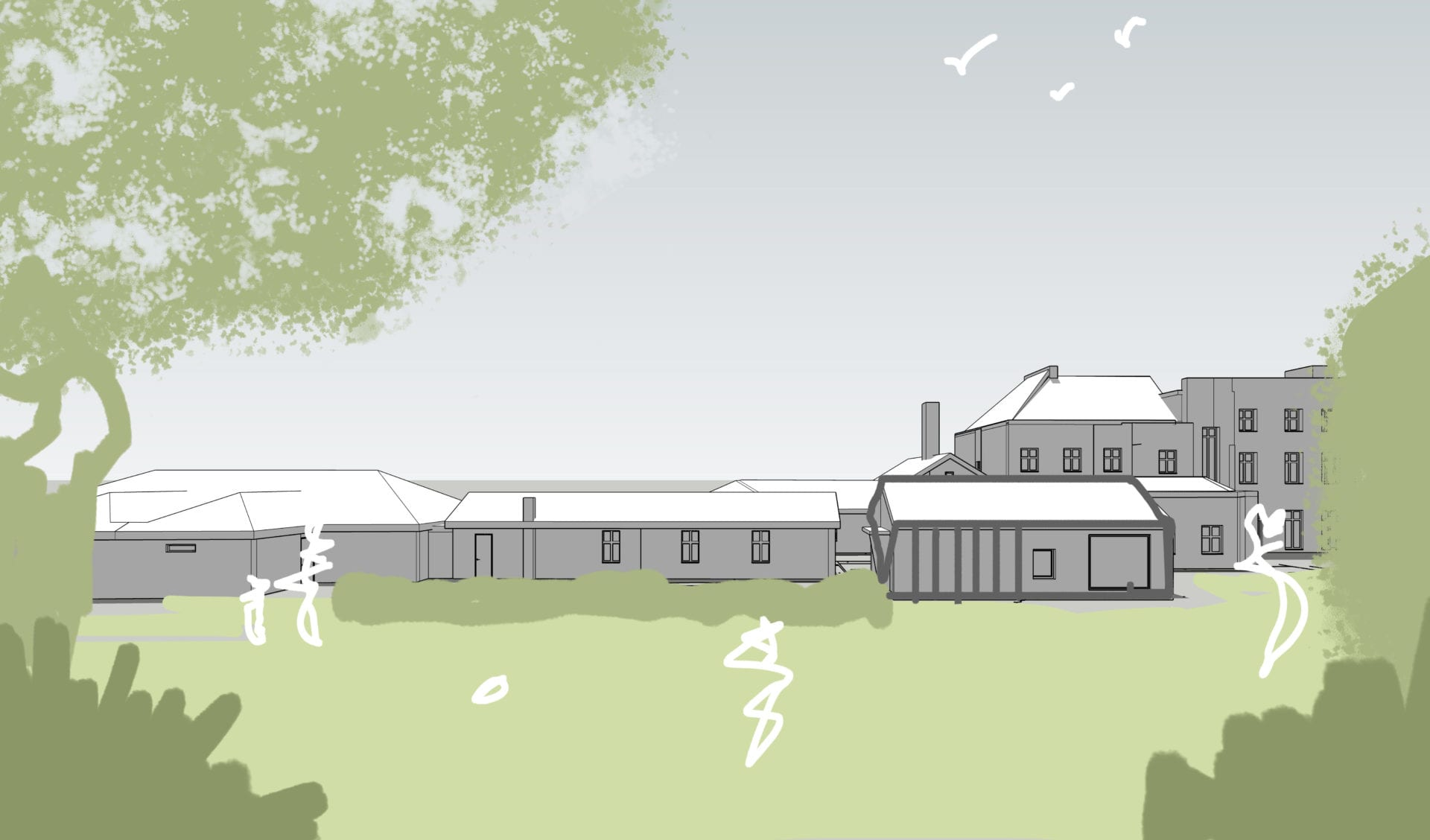Kingscourt School 3D sketch